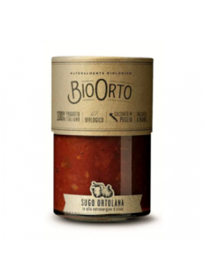 Bio Orto Tomato sauce Ortolana/vegetables, glass 350g organic