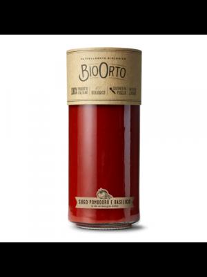 Bio Orto Tomatensaus/basilicum, glas 550g bio