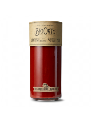 Bio Orto Sauce tomate / basilic, bocal en verre 550g, bio