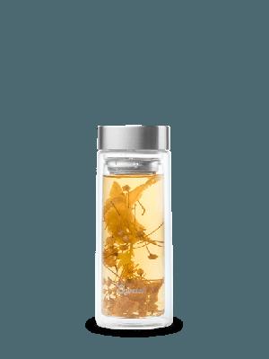 Fruit infuser - dubbelwandige glazen drinkfles van Qwetch