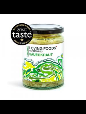 Loving Foods Zuurkool Gefermenteerde Kool, pot 500g bio