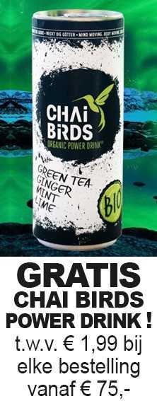 Gratis Chai Birds Power Drinkl t.w.v. € 1,99 bij een bestelling vanaf €75,-