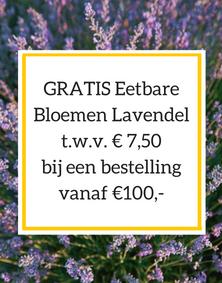 Gratis Eetbare Bloemen Lavendel t.w.v. € 7,50 bij een bestelling vanaf €100,-