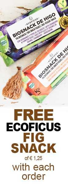 FREE Ecoficus Fig Snack of € 1.25 with each order