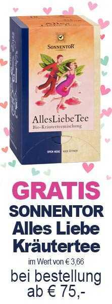 GRATIS Sonnentor Alles Liebe Kräutertee im wert von € 3,66 bei jeder Bestellung ab €75