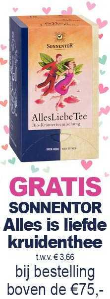 Gratis: Sonnentor Alles is liefde kruidenthee t.w.v. €3,66 bij een bestelling boven de €75