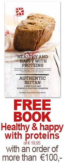 FREE book healthy & happy with proteins of 19,95 euro with an order of € 100 or more.