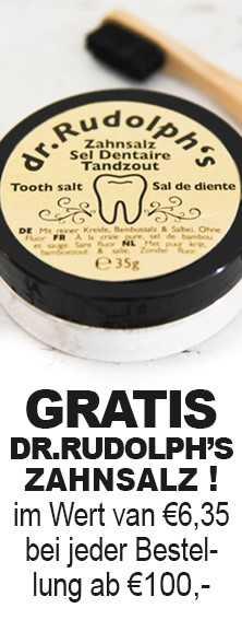 Gratis Dr.Rudolph's zahnsalz i.W.v. 6.35€ bei jeder Bestellung ab 100€