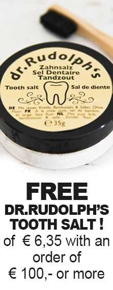 FREE Dr. Rudolph's tooth salt of € 6,35,- with an order of € 100 or more.
