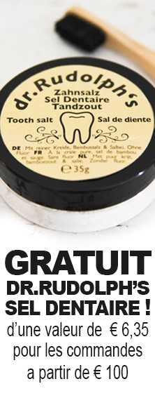 Gratuit dr.Rudolph's sel dentaire d'une valeur de 6,35€ pour les  commandes a partir de 100€