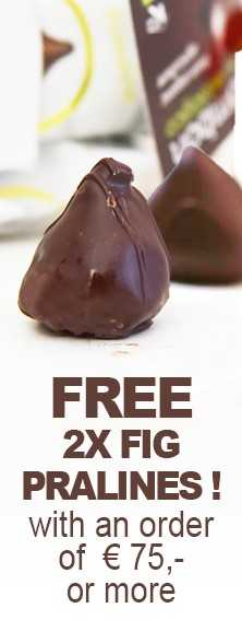 FREE 2x Fig Pralines with an order of € 75 or more.