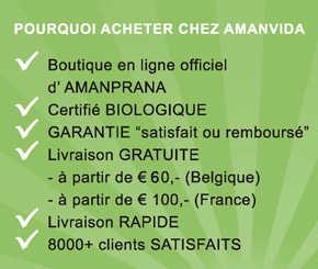 Vous aussi pouvez choisir Amanvida! Plus de 8000 clients satisfaits ont passés avant vous! Ici vous achetez les superaliments biologiques, les soins de corps, etc. d'Amanprana d'une manière simple et avantageux. Lire plus >