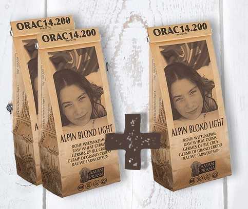 Alpin Blond Light bio tarwekiemen - Koop 2 Alpin Blond Light, krijg een 3de zakje gratis.