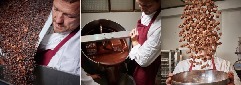 Rrraw productie rauwe chocolade truffels