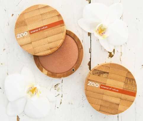 ZAO, 100% natuurlijke make-up. Hypoallergeen, sterk gepigmenteerd, duurzame verpakking.