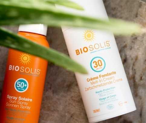 Biosolis, natuurlijke zonnecrème, zonnebrandproducten met minerale filters