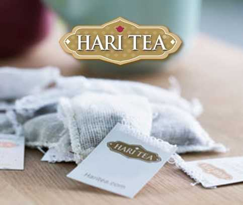 Organic Tea, Hari Tea - Caffeine-free herbal tea in organic cotton teabags