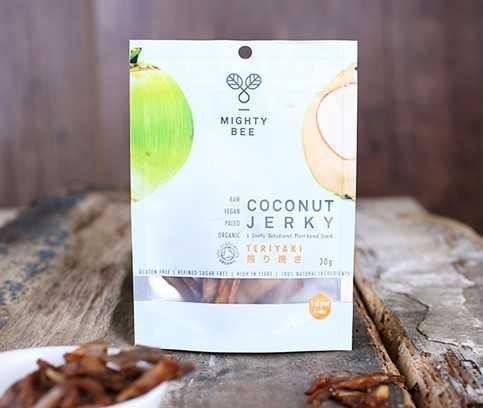 MightyBee - jerky gemaakt van biologische groene Thaise kokosnoten