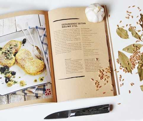 Recipe book for seitan recipes - seitan by Bertyn
