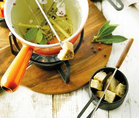 Seitan fondue