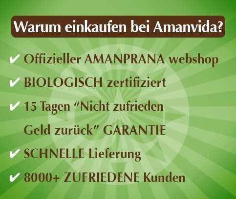 Wählen Sie auch Amanvida ! Mehr als 8000 zufriedene Kunden waren schon hier! Die biologische superfoods, Hautpflege usw. von Amanprana kaufen Sie hier am einfachsten und am günstigsten ein. Lesen Sie weiter >